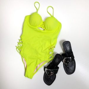 Fluorescent one piece swimsuit 34A (small) NWT